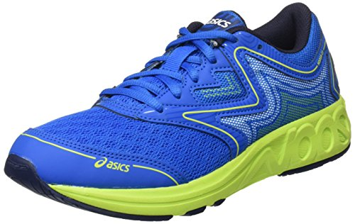 Asics Noosa Gs, Scarpe Running Unisex – Bambini, Blu (Electric Blue/Energy Green/Peacoat), 37.5 EU