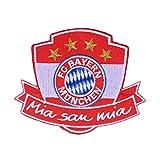 München FC Bayern Aufnäher, Patch, Aufbügler Mia San mia FCB - Plus Gratis Lesezeichen I Love