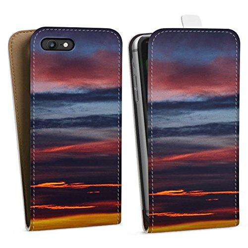 Apple iPhone X Silikon Hülle Case Schutzhülle Sonnenuntergang Himmel Wolken Downflip Tasche weiß