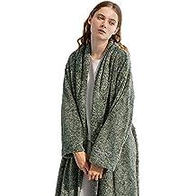 Pijamas Albornoz para Mujer Albornoz Toalla De Baño Traje De Franela De Lujo Grueso Largo Inicio