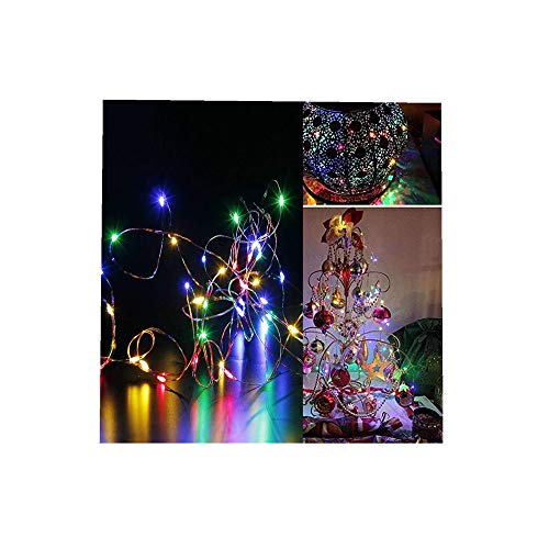 ODJOY-FAN 6 Stück 3m 30LED Fee Licht Zeichenfolge Licht Batterie Sternenklar Zeichenfolge Kupfer Draht Dekor Weihnachten Wohnaccessoires Beleuchtung String Light (Multicolor,6 PC)
