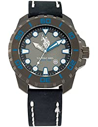 Reloj usp4260bl U.S. Polo ASSN. de piel negro Eagle Azul