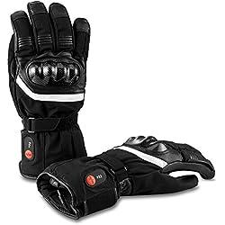 Savior Heated Gants Chauffants avec Batterie Rechargeable Li-ION pour Hommes et Femmes, Gants Chauffants pour Le Cyclisme Randonnée Moto Ski L'alpinisme, autonomie jusqu'à 2,5 à 6 Heures.
