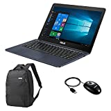 Asus L402NA-GA191TS PC Portable 14' Bleu (Intel Celeron, 4 Go de RAM, 32 Go, Windows 10) + Office 365 Personnel Inclus Pendant 1 an + Sac et Souris Inclus