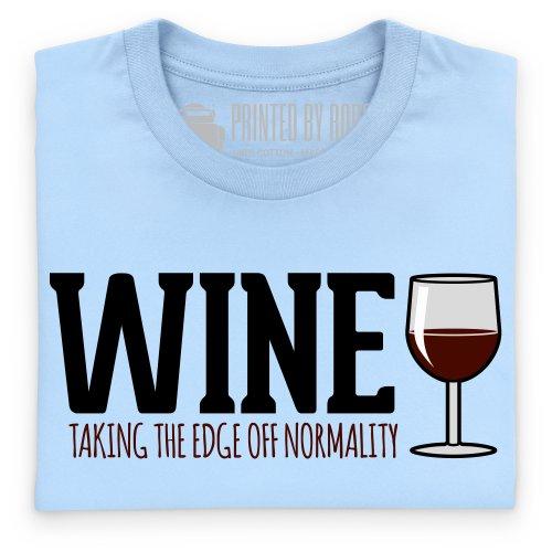 Wine T-Shirt, Herren Himmelblau