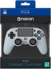 Nacon Wired Compact Controller for PS4 (Grey) PlayStation official Licensed Product