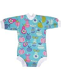 Splash About Happy Nappy - Traje de neopreno para niños, color Azul (Tutti Frutti), talla 12-24 meses/XL
