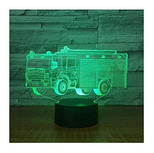 WFTD Luz de Noche 3D, 7 Color LED luz Material de Fuego...