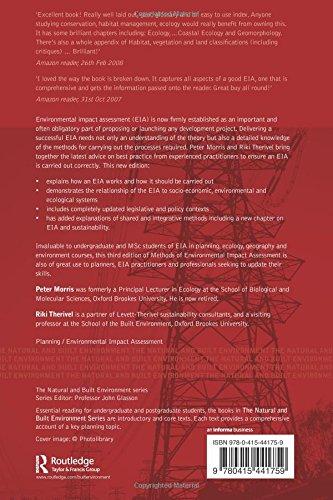 Methods of Environmental Impact Assessment (Natural and Built Environment Series)