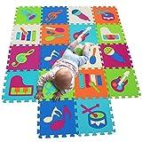 MQIAOHAM MQIAOHAM spielmatte Baby puzzlematte puzzelmatten für Babys Play mat krabbelmatte Boden Puzzle spielmatten matten krabbeldecke wasserdicht Matte Schaum bodenmatte P009009G321018