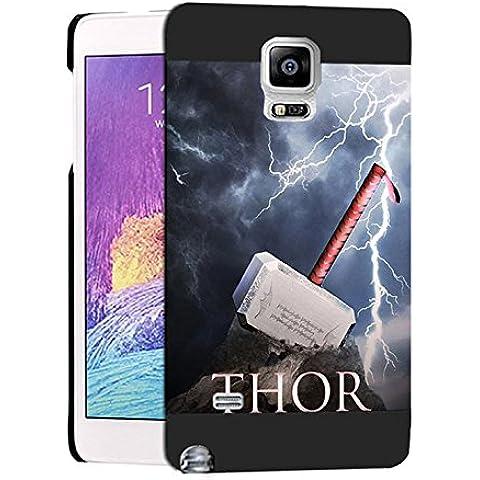 Vintage Thor Hammer Samsung Note 4 Custodia Protettiva, Galaxy Note 4 Thor Hammer - [ Marvel Comics ] Cabina telefonica CustodiaCase, Thor Hammer Durevole Samsung Galaxy Note 4 Case Cover For Ragazzi