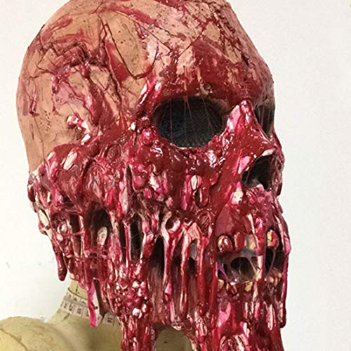 Aisence halloween in lattice horror maschera spaventosa bloody messenger mask full mask head latex masquerade prop