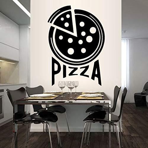 Pizza Aufkleber Essen Aufkleber Poster Vinyl Kunst Wandtattoos Wandaufkleber Dekor Wandbild Pizza Aufkleber 58X82cm