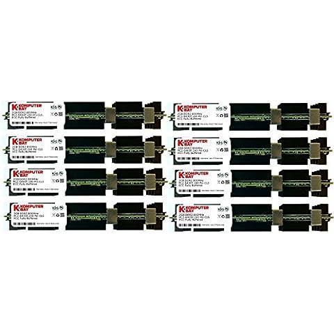 Komputerbay KB_16GB_8X2GB_800_FBDIMM_MAC_HS - Módulos de memoria FB-DIMM con disipadores de calor para ordenadores Mac de Apple, 16GB (8x 2GB) DDR2, PC2-6400F, 800MHz ECC Búfer Completo 2Rx4 (240