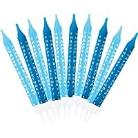 amscan 551518 10 Boy Birthday Candles Blue