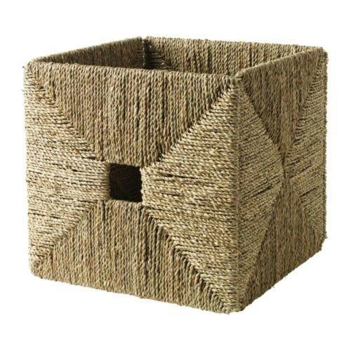 IKEA KNIPSA Box handgeflochtener Korb aus Seegras (32x33x32cm); passend für EXPEDIT Regal (Seegras-boxen)