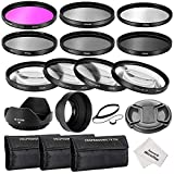 Neewer® 67MM Professionelle Komplette Objektiv-Filter Zubehörsatz für CANON EOS 70D 60D 7D EOS 700D 650D 6D 600D 550D / T5i T4i T3i T3 T2i DSLR-Kameras, Set umfasst: (1) Filterset (UV, CPL, FLD) + (1) Makro Close -up Filter Set (+1, +2, +4, +10) + (1) Graufilter Set (ND2, ND4, ND8) + (1) 3-in-1 Faltbare Sonnenblende + (1) Tulpen Objektiv Hood + (1) Snap-on Vorderer Objektivdeckel + (1) Kappe Wächter Leine + (3) Filter Tragebeutel + (1) Mikrofaser Reinigungstuch