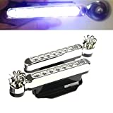 WEPECULIOR 1 pair 2016 Brand New 8 LEDs Wind Powered Automobile DRL Daytime Running Light Fog Auto Head Lamp 12V
