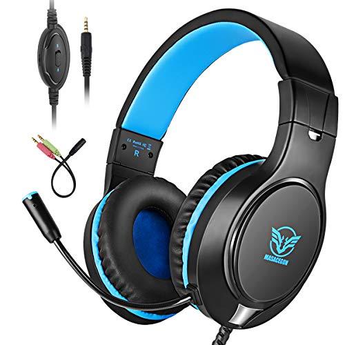 Bovon Auriculares Gaming, Cascos PS4 con Microfono para Xbox One, Nintendo Switch,...