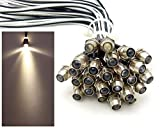 20x LED Lichtpunkt Sternenhimmel Aluminium IP68 Wasserdicht Verbrauch 0,2 Watt pro Lichtpunkt dimmbar Einbau Spot Schraube Licht Punkt Deckenleuchte Deko Lichtfarbe : Warmweiss