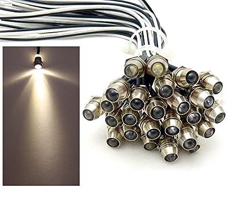 20x LED Lichtpunkt Sternenhimmel Aluminium IP68 Wasserdicht Verbrauch 0,2 Watt pro Lichtpunkt dimmbar Einbau Spot Schraube Licht Punkt Deckenleuchte Deko Lichtfarbe :