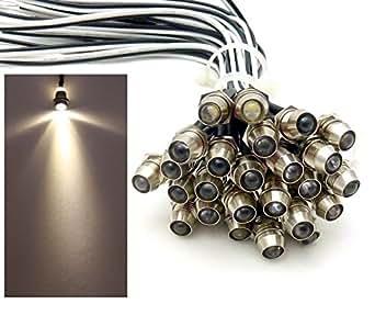 10x LED Lichtpunkt Sternenhimmel Aluminium IP68 Wasserdicht Verbrauch 0,2 Watt pro Lichtpunkt dimmbar Einbau Spot Schraube Licht Punkt Deckenleuchte Deko Lichtfarbe : Warmweiss