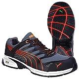 Puma Safety Shoes Fuse Motion Red Men Low S1P, Puma 642540-210 Unisex-Erwachsene Espadrille Halbschuhe, Schwarz (schwarz/rot 210), EU 45