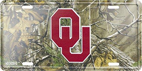 Oklahoma Sooners Camouflage Metal License Plate by Collegiate