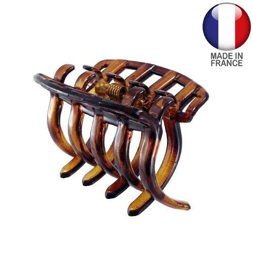 320 – 003 – Pince pour cheveux français à peigne cm 4 Color Tortue – Pinces pour Cheveux