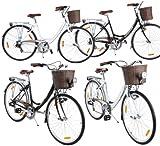 Viking Prelude 7 Gang Citybike Stadt Fahrrad, Farbe:Schwarz ohne Licht;Rahmengrösse:41 cm