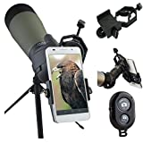 AccessoryBasics Binocular Spotting Scope Telescope Microscope periscope adapter Mount for iPhone 7 6S Plus 6 SE Galaxy S7 S8 Edge LG G6 V20 Smartphone video image recording +FREE BLUETOOTH SHUTTER