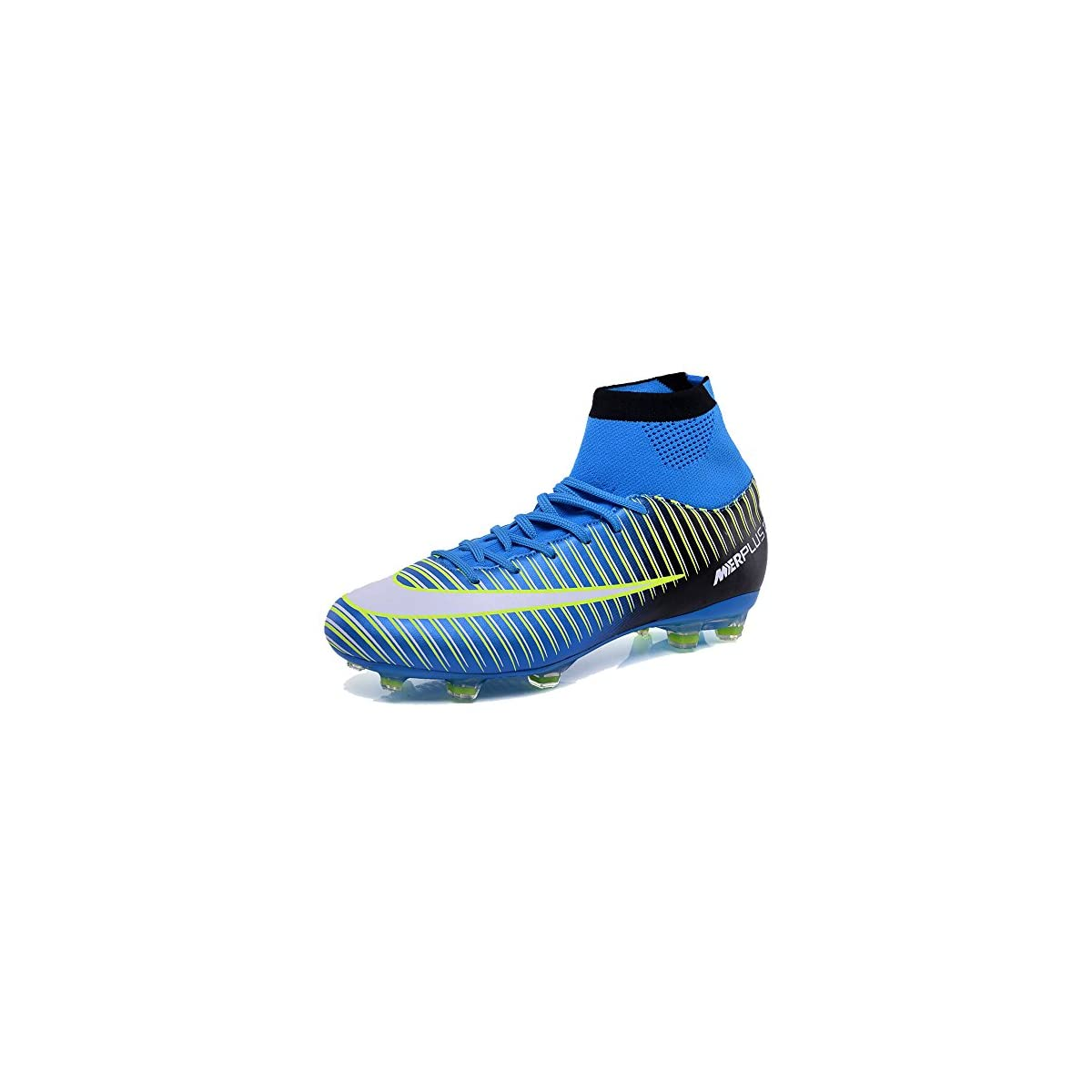 KAMIXIN Football Boots Men s High Top Soccer Training Shoes Kids ... 734739d25