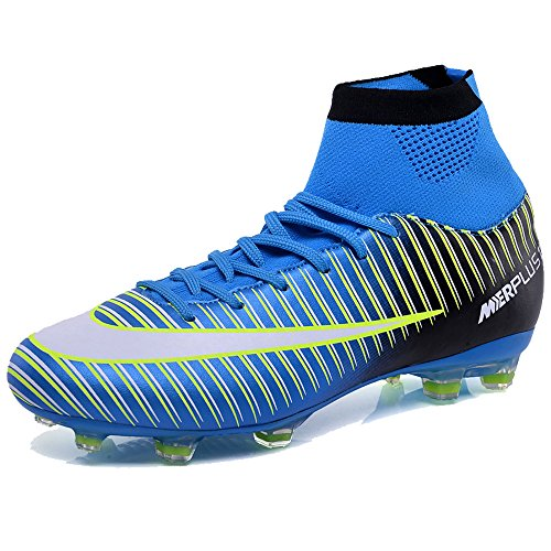 bcf8188d04ca8 KAMIXIN Football Boots Men s High Top Soccer Training Shoes Kids Football  Trainers Shoes Unisex Soccer Boots