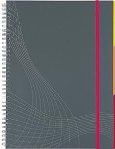 Notizio Cahier Organiseur à Spirales Papier Ligné Innovation Lignes Blanches - A4 - 180 Pages (7016)