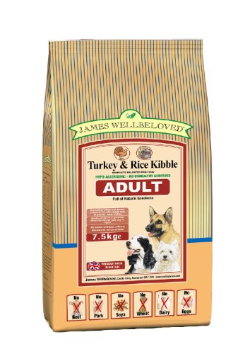 James Wellbeloved Dog Food Adult Turkey and Rice Kibble 7.5kg