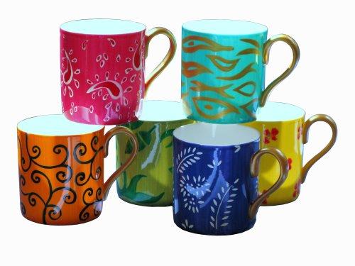 CHH Design Diversity I - Juego de tazas (42% porcelana china, pintad