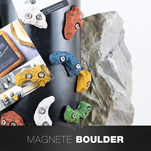 3ER SET Boulderstein Klettergriff aus dem Klettersport mit Magnet - Sport-kühlschrank