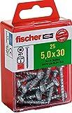 Fischer 652860 Spanplattenschraube Power-Fast 5,0 x 40 Halbrundkopf blauverzinkt Vollgewinde Kreuzschlitz PZ, 15 Stück