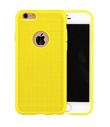 SDO™ Luxury Grid Pattern Dotted Finish Heat Dissipating Soft Back Case Cover for Apple iPhone 4 / 4S (Yellow)  available at amazon for Rs.175