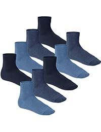 Footstar Premium Kurzsocken mit Komfortbund schwarz grau jeans blau 3, 6 oder 9 Paar
