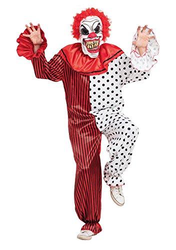 Bristol Novelty AF006Mehrfach Horror Clown Kostüm, 42-44-inch