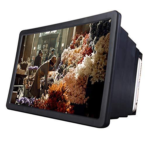 8,5 Zoll Handy 3D Bildschirm Lupe Smartphone Lupe, Vergrößerer Bildschirm, Lupe 3D Film Video Bildschirm Verstärker Schützen Augen Für Iphone (Schwarz) -
