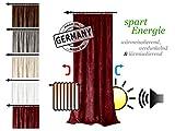 Verdunklungsvorhang Inuit von Home Decoration - made in Germany – energiesparend – Thermo-Chenille – schallisolierend + wärmeisolierend + verdunkelnd, rot