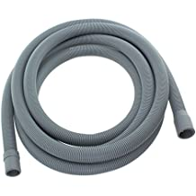 Spares2go Extra larga tubo de agua manguera de desagüe para Smeg Lavavajillas (4.1m 19mm & 22mm Conexión)