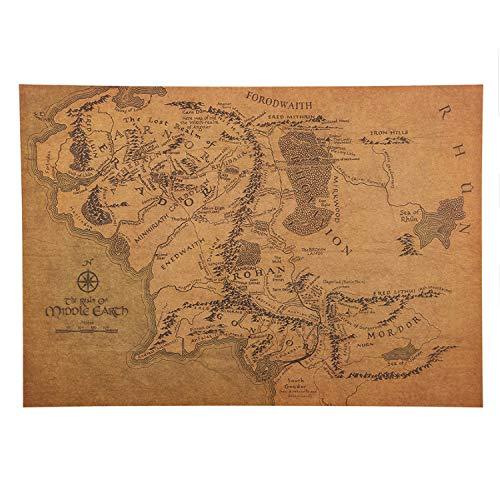 Haoxinbaihuo Mapa De La Tierra Media De La Vendimia