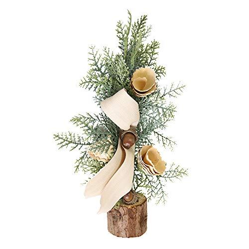 Weihnachten Dekorativer Weihnachtsbaum + Warmweiße Lichterkette Schnur Weihnachtstisch Dekoration Mini Weihnachtsbaum Deko Geschenk Dekoration Erntedankfest Weihnachtsbeleuchtung