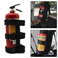Womdee Adjustable Roll Bar Fire Extinguisher Holder for Jeeps - Premium and Easy to Install, Suitable for Jeep Wrangler, Unlimited, CJ, YJ, LJ, TJ, JK, JKU, JL, JLU etc