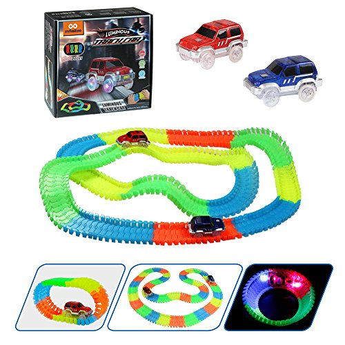 infinitoo Tracks Magique Circuit de Voiture Flexible Tracks Car, Une Piste de Course de...