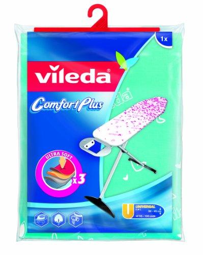 Vileda 142468 Comfort Plus Housse pour Planche à Repasser Blanc-Rose/Turquoise-Blanc 5,5 x 22,50 x 36 cm - Modèle Aléatoire
