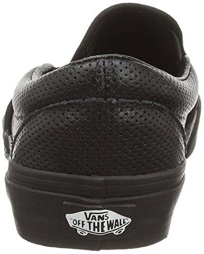 Vans U CLASSIC SLIP-ON Unisex-Erwachsene Sneakers Schwarz ((Perf Leather) black/black)
